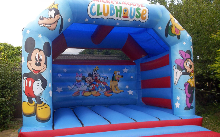 Mickey Mouse Theme Bouncy Castle